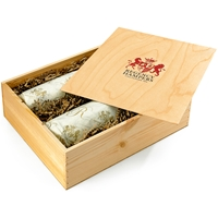 Red & Sparkling Wine Duo in Wooden Box