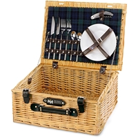Festive Delight in Fitted Picnic Basket