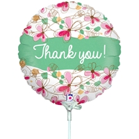 """Thank You"" Floral Balloon"
