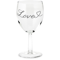 """Love"" Engraved Wine Glass"