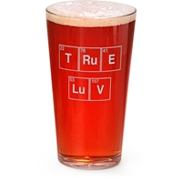 """True Love"" Engraved Pint Glass"