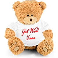 "Embroidered ""Get Well Soon"" Teddy Bear"
