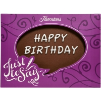 """Happy Birthday"" Chocolate Plaque"