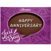 """Happy Anniversary"" Chocolate Plaque"