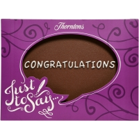 """Congratulations"" Chocolate Plaque"