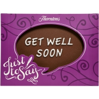 """Get Well Soon"" Chocolate Plaque"