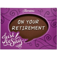 """On Your Retirement"" Chocolate Plaque"