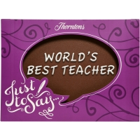 """World""s Best Teacher"" Chocolate Plaque"