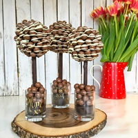 Mothers Day Maltesers & White Chocolate Drizzle Sweet Tree, 25cm