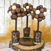 Mothers Day Luxury Chocolate Truffles Sweet Tree, 25cm