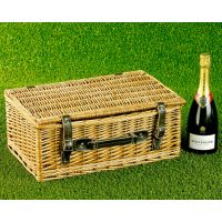 Empty Wicker Hamper Basket, Lidded (Bronzed 18