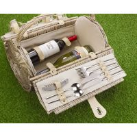 Empty Picnic Basket, Barrel Hamper (2-Person)