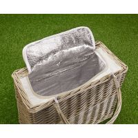 Empty Picnic Hamper Basket, Long-Handled Cool Bag