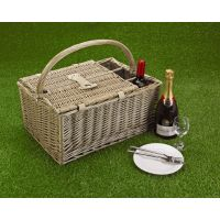 Luxury Picnic Basket, Three-Bottle Folding Hamper