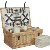 Luxury Fitted Picnic Hamper Basket, 6 Person