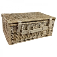 Empty Wicker Hamper Basket, Lidded (Standard)