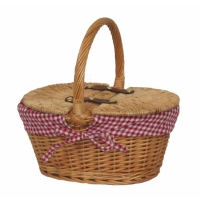 Empty Picnic Basket, Twin Hamper Style (Lined)