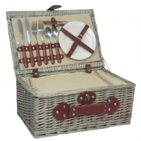 Fitted Picnic Hamper, 2 person, Cream Cool Hamper