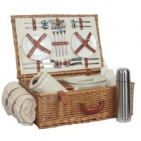 Luxury Fitted Picnic Hamper Basket, 2-Person