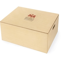 Seasons Greetings Hamper in Bespoke Branded Wooden Box