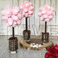 Happy Birthday Marshmallows & Love Hearts Sweet Tree, 25cm