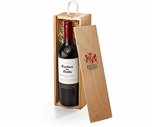 Casillero del Diablo Red Wine in Wooden Gift Box