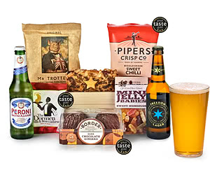 Beer Man Crate & Snack Selection Tray
