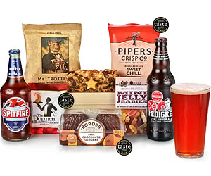 Real Ale Man Crate & Snack Selection Tray
