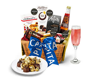 Alcohol-Free Westcote Hamper with Bespoke Branded Ribbon