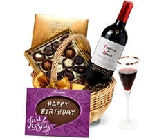 Birthday Red Wine & Chocolate Hamper