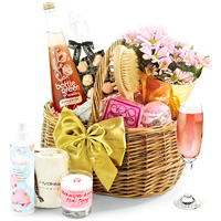 Alcohol-Free & Flowers Luxury Pampering Set in Gift Basket
