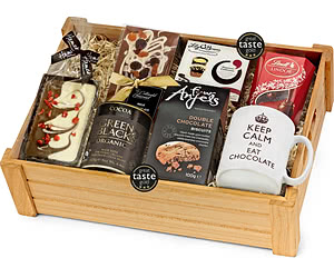 Chocolate Lover's Gift Set in Wooden Crate