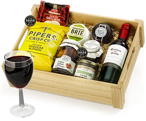 Ploughman's Selection in Wooden Crate