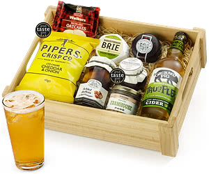 Cider Ploughman's Choice with Truffler in Wooden Crate