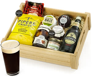 Guinness Ploughman's Choice in Wooden Crate