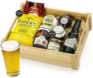 Lager Ploughman's Choice with Cotswold Premium in Wooden Crate