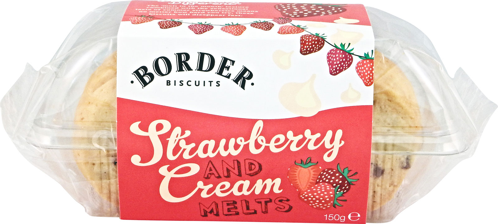 Border Biscuits, White Chocolate & Strawberry Cookies, 150g