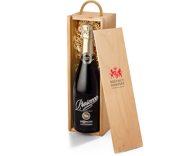 Sparkling Prosecco in Wooden Gift Box