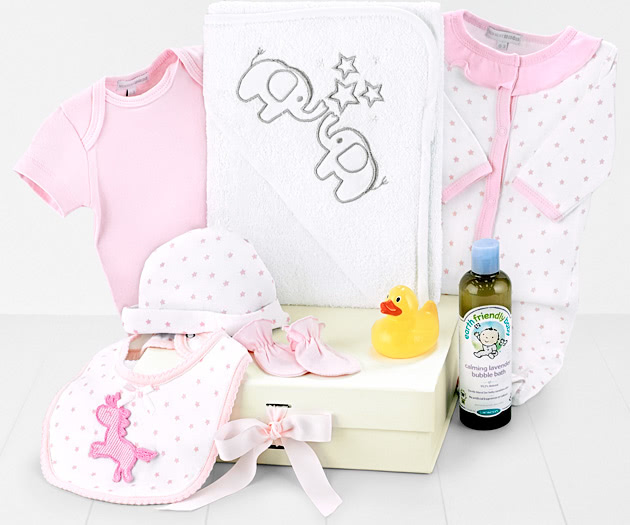 Baby Bath-Time Hamper