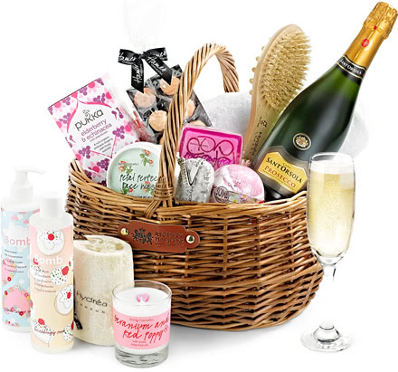 Luxury Pampering Set Gift Basket With Prosecco Regency Hampers