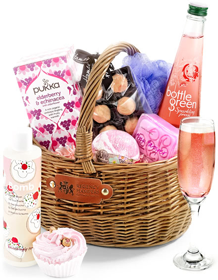 Alcohol-Free Pampering Set in Gift Basket
