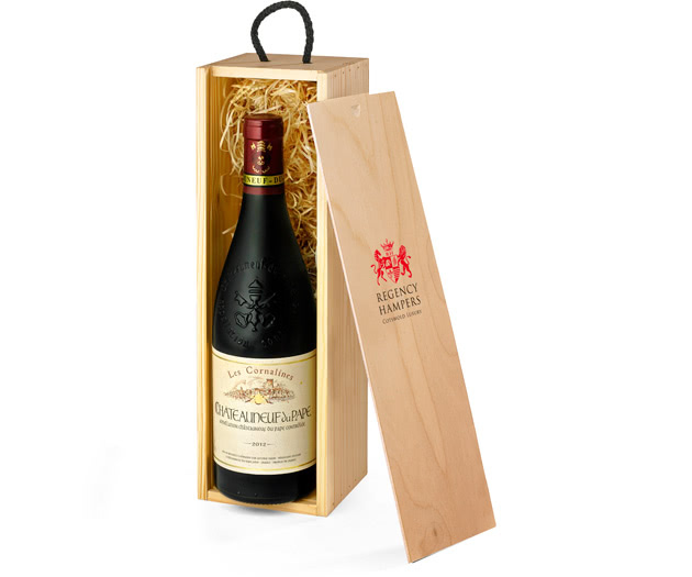 Premium Châteauneuf-du-Pape Wine in Wooden Box