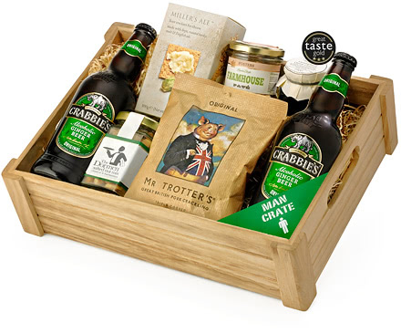 Ginger Beer Man Crate & Snack Selection Tray