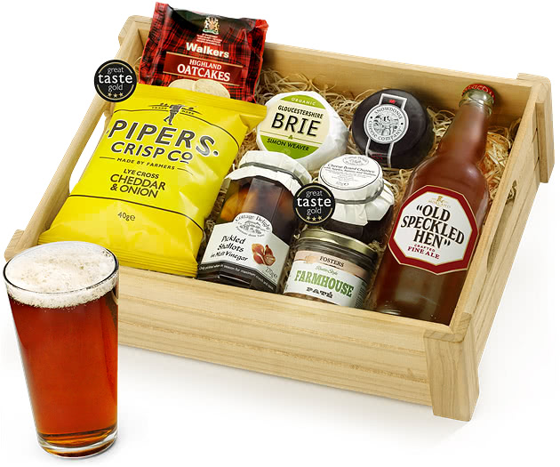 Real Ale Ploughman's Choice in Wooden Crate