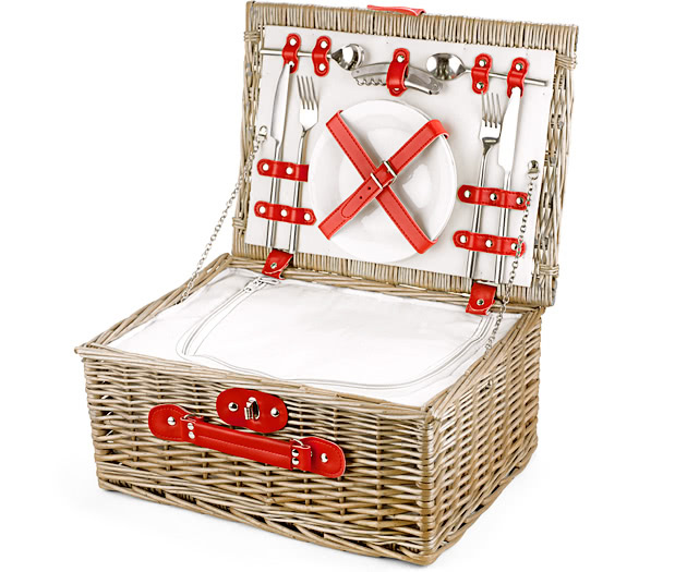 Empty Picnic Basket, Red Cool Hamper (2-Person)