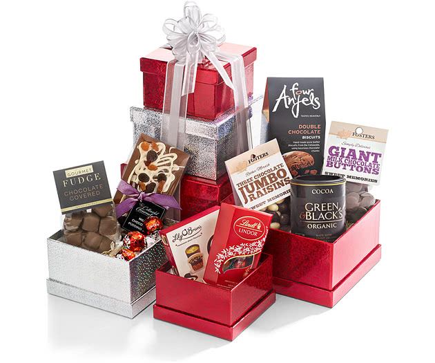 Chocolate Collection Red Gift Tower