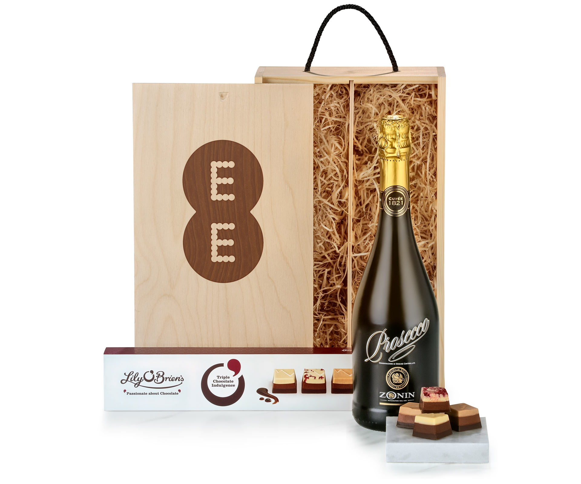 Prosecco & Chocolates in Bespoke Branded Gift Box