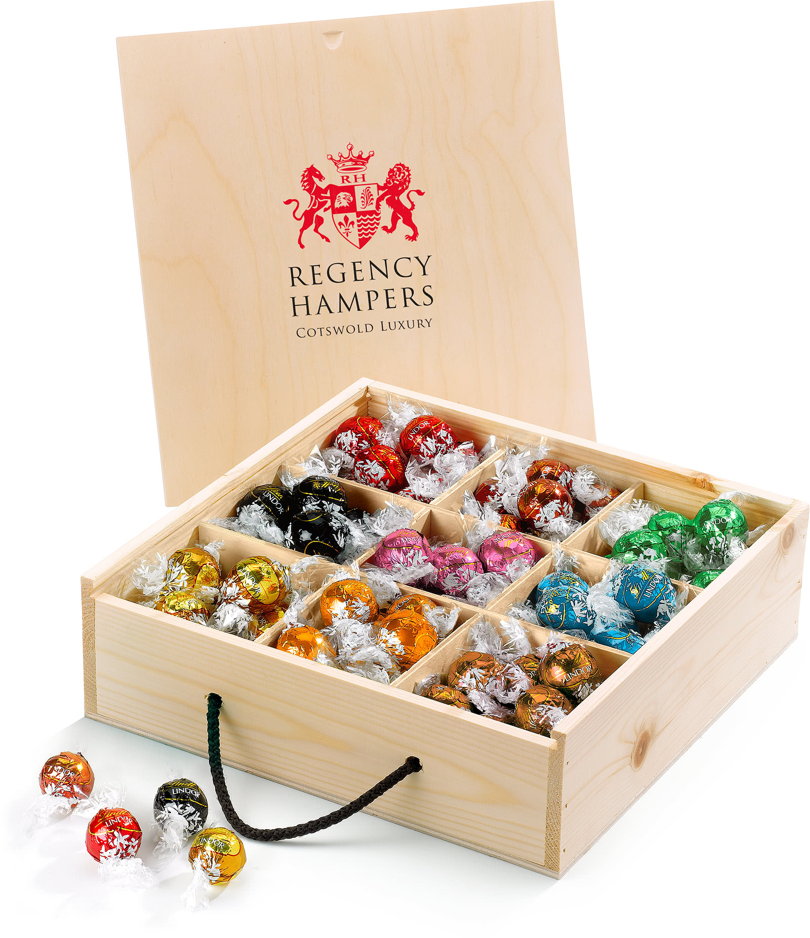 Lindt Lindor Truffles in Wooden Box | All Hampers & Gifts