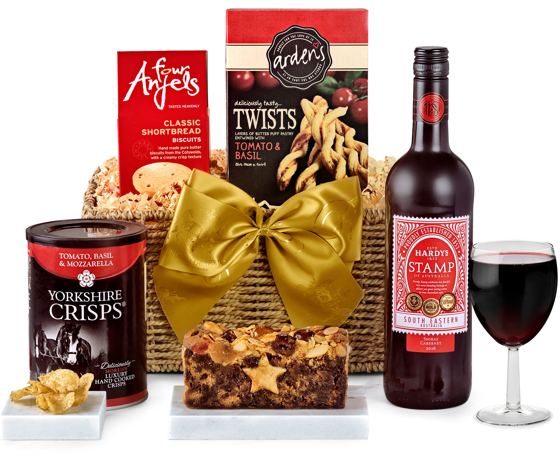 Wedding Gift Hampers Uk: Anniversary & Wedding Clarendon Hamper With Red Wine