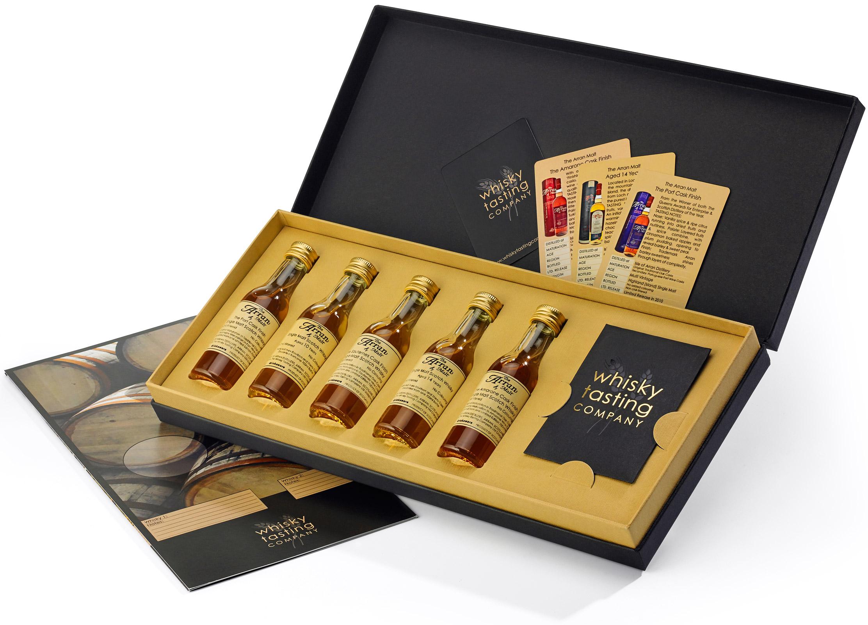 whisky tasting kit gift set isle of arran regency hampers. Black Bedroom Furniture Sets. Home Design Ideas